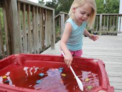 Color Mixing Sensory Table