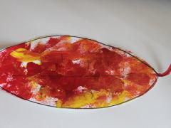 Sponge Painted Fall Leaves