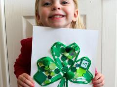 Green Clover Collage