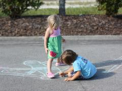 Shadow Chalk Experiment