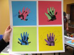 Pop Art Handprints!
