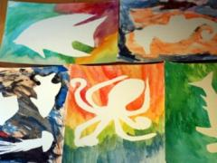 Watercolor Resist Paintings: Under the Sea
