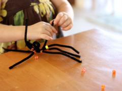Creepy-Crawly Pipe Cleaner Spiders