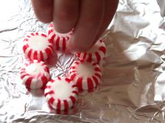 Peppermint Wreath Ornaments