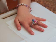 Shrinky Dink Handprint Keychain
