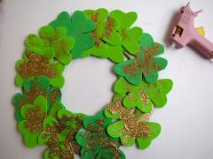 Foam Shamrock Wreath
