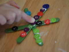 Button Snowflake Ornaments