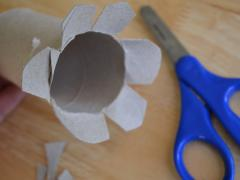 Toilet Roll Flower Stamping
