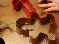 Cookie Cutter Ice Ornaments