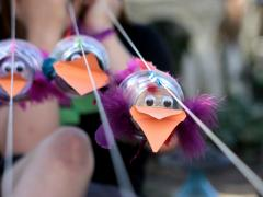 Bird Puppets for Races