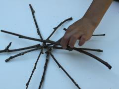 Sticks + Yarn = Nature Star