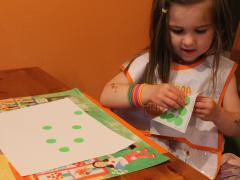 Sticker Dots Resist Watercolor Painting