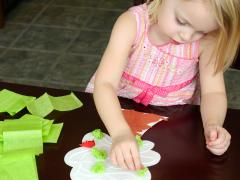 Tissue Paper Trees Craft