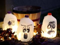 Halloween Milk Jug Lanterns