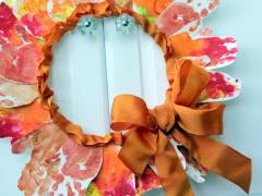 Leaf Handprint Wreath