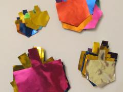 Foil Dreidel Collage