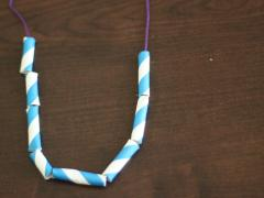 Paper Straw Necklace