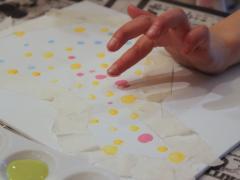 Fingerprint Bird Painting