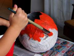 Papier Mache Trick-or-Treat Basket