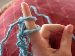 Finger Knitting Tutorial and Bracelet