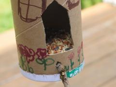 Salt Container Bird Feeder