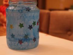 Painted Star Jar