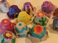 Egg Carton Easter Eggs