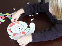 Paper Plate Snail