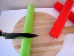 Pool Noodle Drum Sticks
