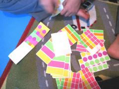 Labels + Paper = Sticker Mosaic