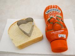 Heart-Shaped Sandwich