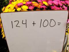 Sidewalk Chalk Mental Math Game