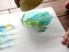 Stained Glass Apple Printing