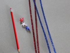Sparkling Fireworks Pencil Topper