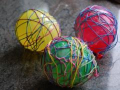 Embroidery Thread Easter Eggs