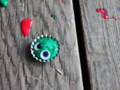 Bottle Cap Creature Magnet