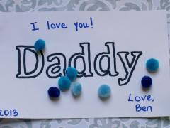 Toddler Father's Day Craft with Pom Poms