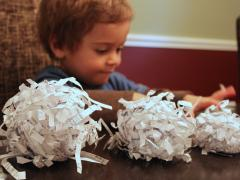 Shredded Paper Snowman