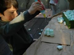Packing Peanuts + Glue = Sculpture