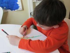 Spring Birds with Watercolor Crayons