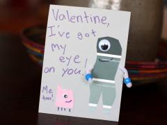 Paint Chip Valentine Monsters
