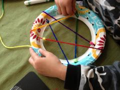 Paper Plate Dreamcatchers