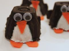 Egg Carton Penguin
