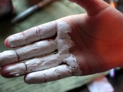 Snowman Fingerprint Ornament