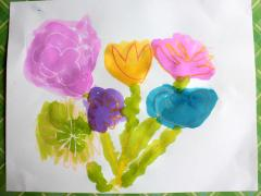 Relief Art: Spring Flower Bouquet