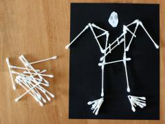 Halloween Q-Tip Skeleton