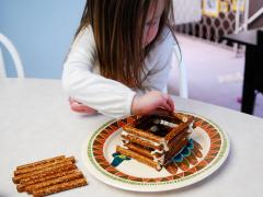 Pretzel Log Cabin
