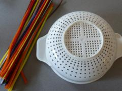 Colander and Pipe Cleaners = Turkey