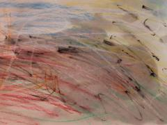 Watercolor Crayon Abstract Picture