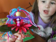 Pipe Cleaner Flower Fairies